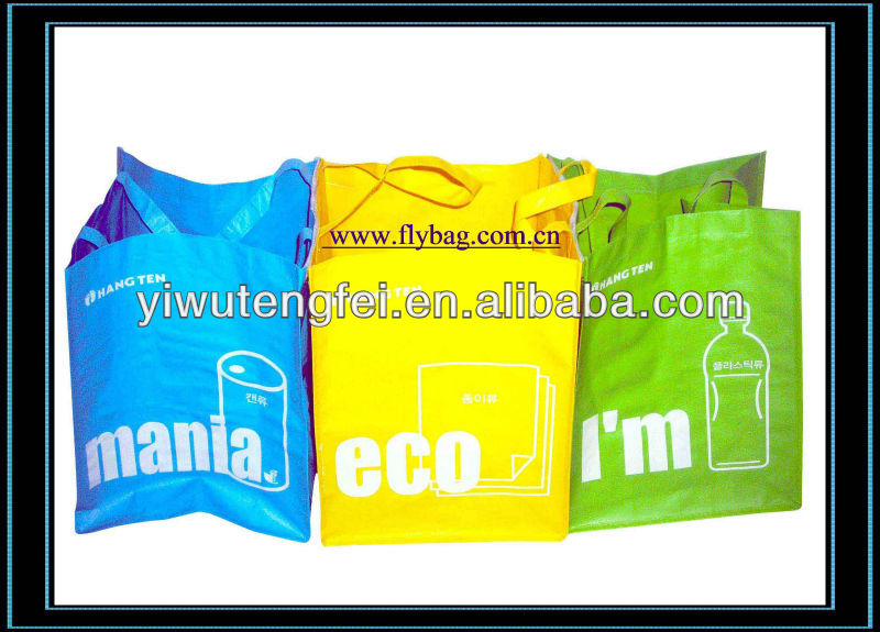 Colorful PP Woven Handing shopping plastic Bag