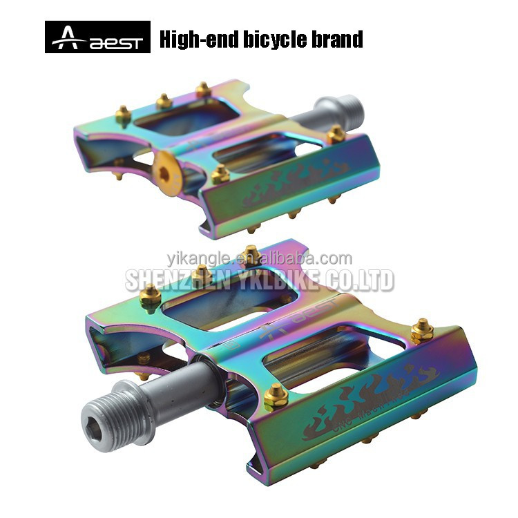 AEST titanium spindle light weight oil slick bicycle parts pedals