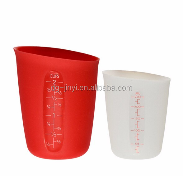 Silicone measuring cups set medical measuring cups custom measuring cups