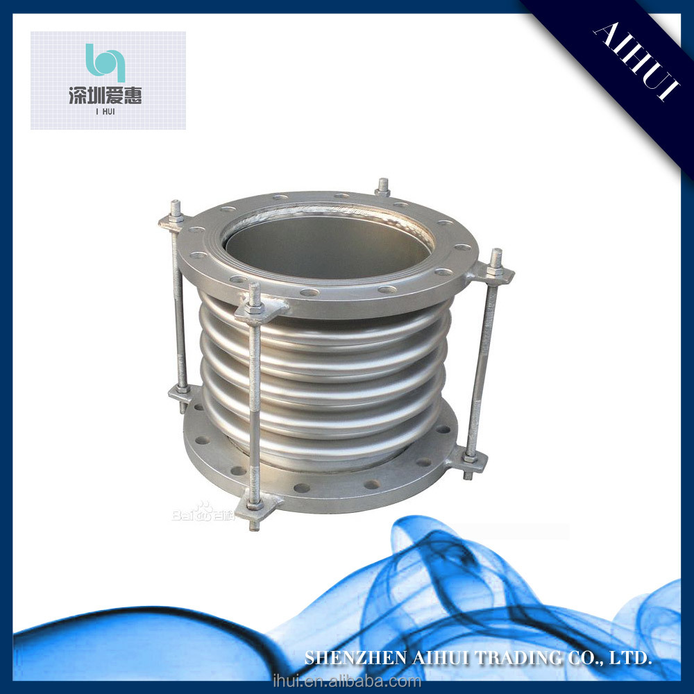 Stainless Steel Metal Bellows Compensator / Sliding Type Expansion Joint