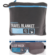 Luxury cotton jersey airline travel blanket and eye mask
