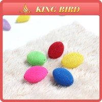 flocking beads acrylic crystal bead wholesale mixed color