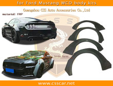Wcd style fender flares for ford mustang wide style body kit in frp