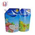 Non-toxic Packing Material Plastic Spout Standup Bag Pouches With Cap