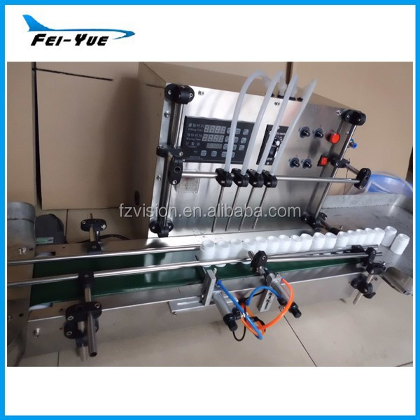 Customized 4 pieces filling nozzles small dose Automatic liquid dispensing machine