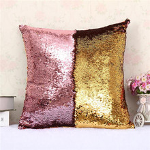 DIY magic colors change pillow cushion cover 40 x 40 cm Sequin cover