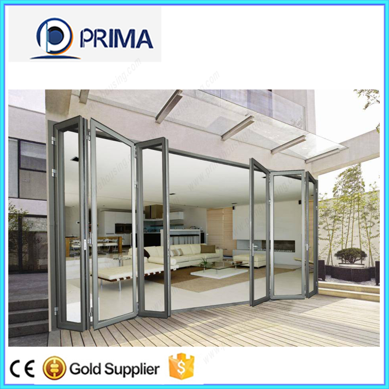 Clear Or Reflective Casement Sliding Fixed Folding Glass Powder Coating Aluminum Profile Door
