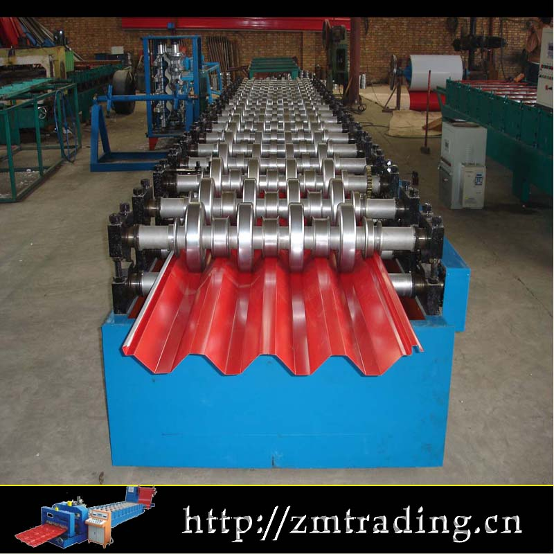 double layer roofing panel roll forming machine with safe cover and automatic stacker