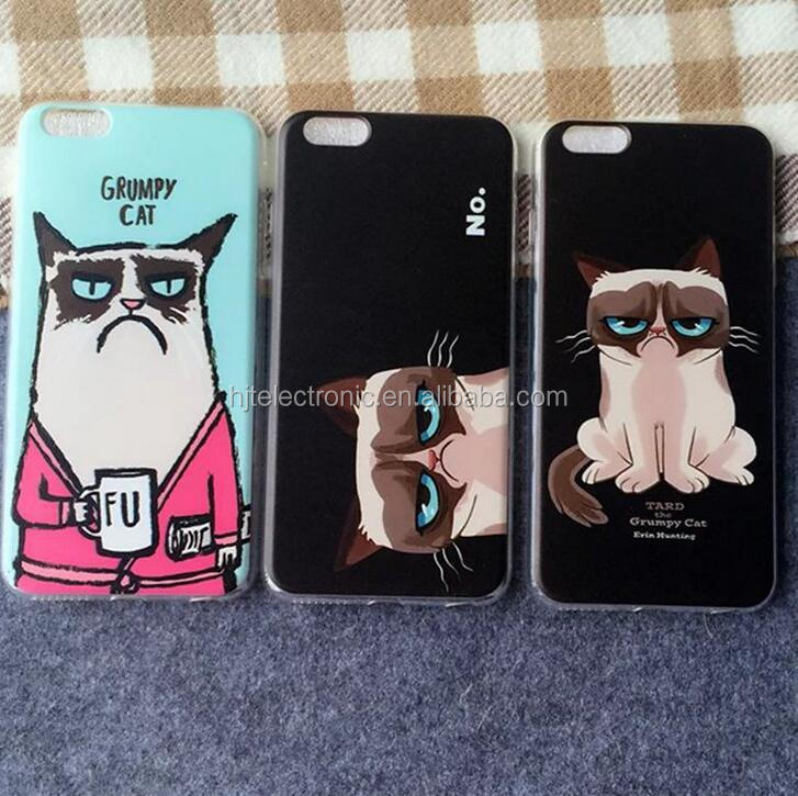 2016 Hot Sell cell phone case New Arrival cat painting phone cover /Durable mobile phone cover for iphone/Samsung /Android