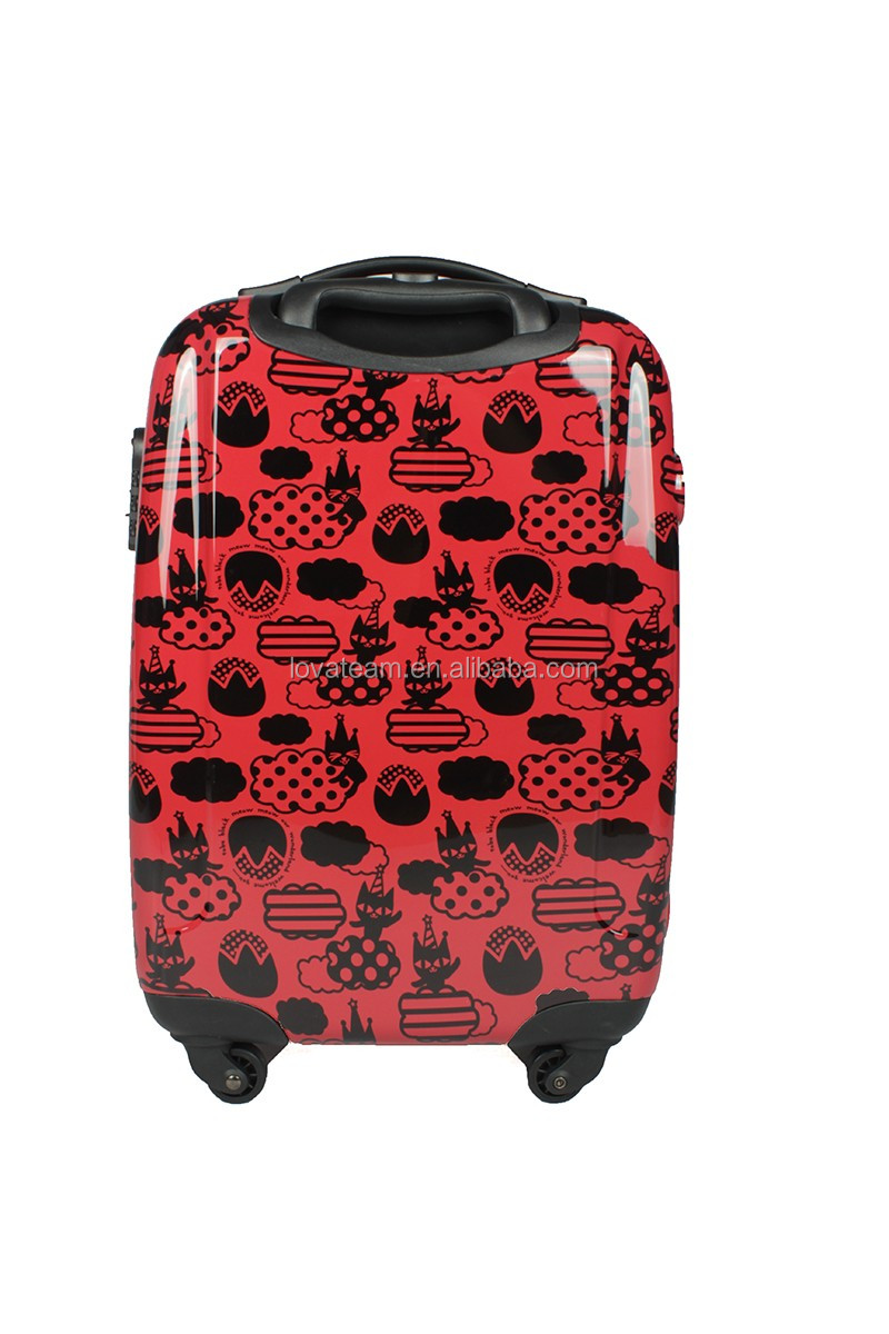 dot printted luggage