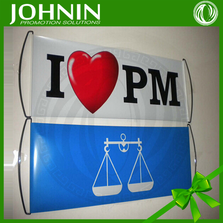 I LOVE PM promotion flag advertising scrolling hand roll up banner