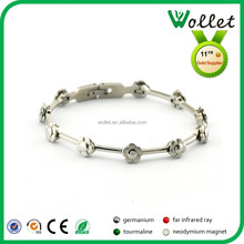 fashion flower shape ladies make your own stainless steel cable bracelet