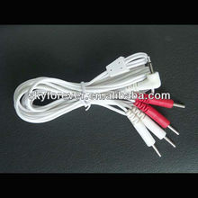 2.5mm mono DC plug electrode wire for 4pin,medical lead wire