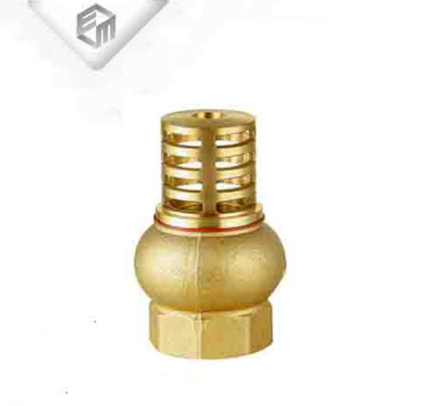 Non-return brass check valve water pump foot valve with filter
