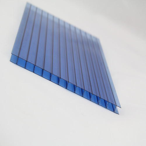 UV Resistance Protector Layer Lexan or Margard Polycarbonate Resin Three Layers PC Sheet For Greenhouse Skylight Glazing 12-16mm
