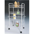 123-38 collapsible heavy duty mesh wire kitchen trolley cart