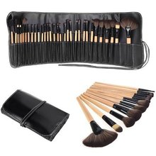Good Quality 32 pcs Makeup Brush Kit Makeup Brushes with Leather Case