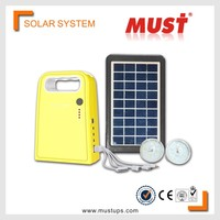 MUST 3W portable mini solar led lighting system for family lights in remote areas