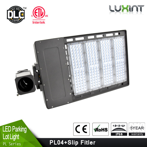 Model type ETL DLC 130LM/W led shoe box light 100w led parking lot pole light