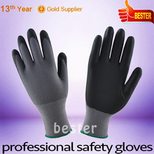 Competitive price hot-sale microfoam nitrile coated nylon work gloves
