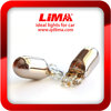 lima chrome car lights T10 blue/amber