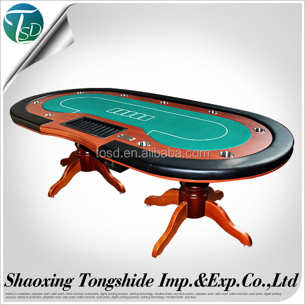 CNC-Ha1 multy poker game used/Poker table with iron legs wood