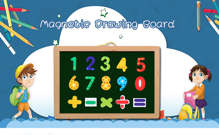 2017 NEW type magnetic blackboard kids erasable drawing board with wood frame