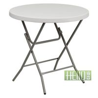 HL-Y80 white round table/ small round table/ small plastic round table