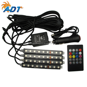 4-Piece Multi-Color 36/48 LEDs Underdash Lighting Kit - Interior Atmosphere Neon Lights Strip for Car, Decoration Lamp for CAR