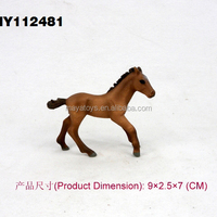 Plastic race horses toys mechanical horse toys small plastic figurine horse toys 9*2.5*7 cm