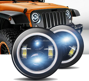Electricity trade explosion 6000K 47W IP67 12V 4200LM 7 inch shepherd horse LED laser Jeep fog light headlight
