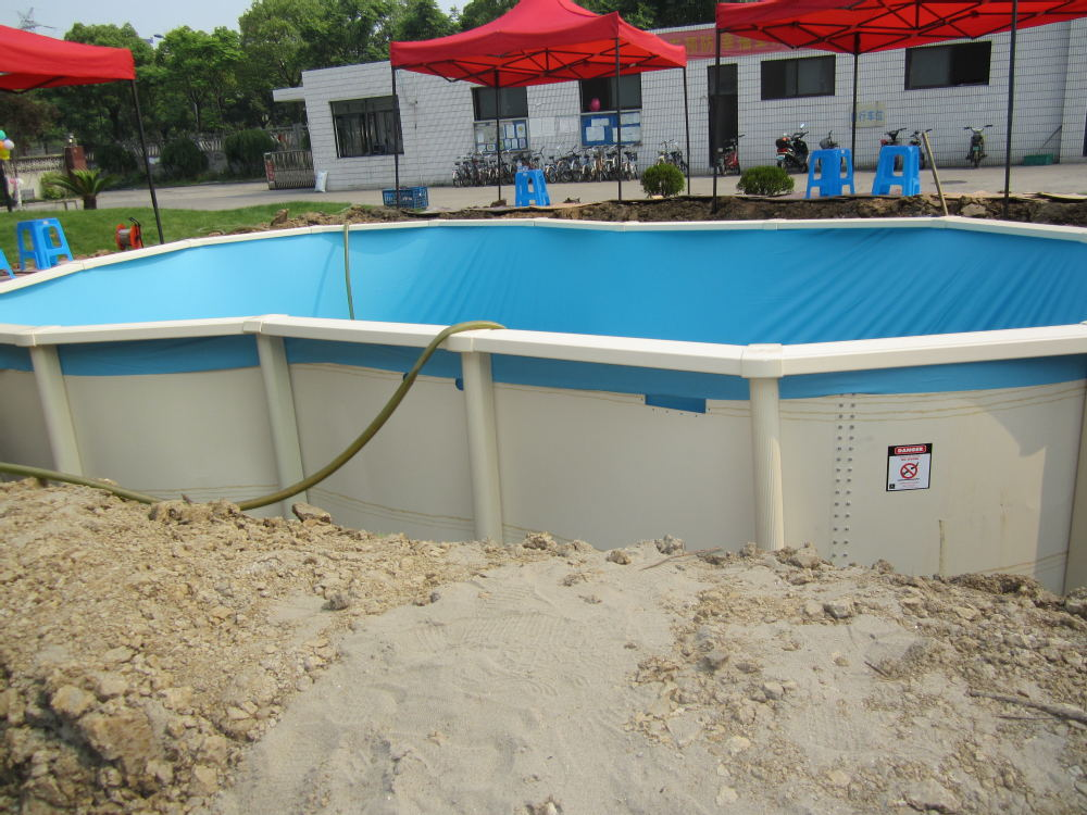 2016 Guangzhou Jackbo Popular Prefabricated Swimming Pools Above Ground Steel Swimming Pool