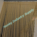 Customizable 6mm Gold Backdrop Metal Beaded Curtain