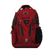 Business Elite Backpack Red Fits 17'' Laptop with Tablet Storage & Back Panel