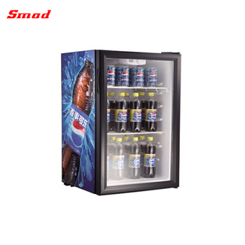 Smad 21-98L Supermarket Mini Cold Drink Glass Display Refrigerator Showcase
