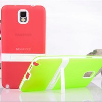 Hot selling 2014 new trendy plastic pc tpu case belt clip case for samsung galaxy note 3