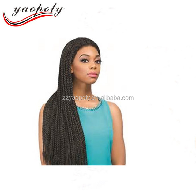 22'' black color crochet box braids synthetic dreadlocks wig lace front wig