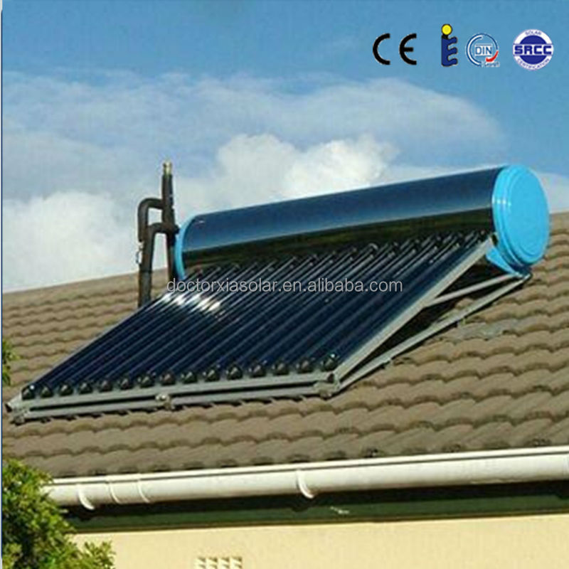 compact high pressurized pr-heated solar water heater tube,energy saving products