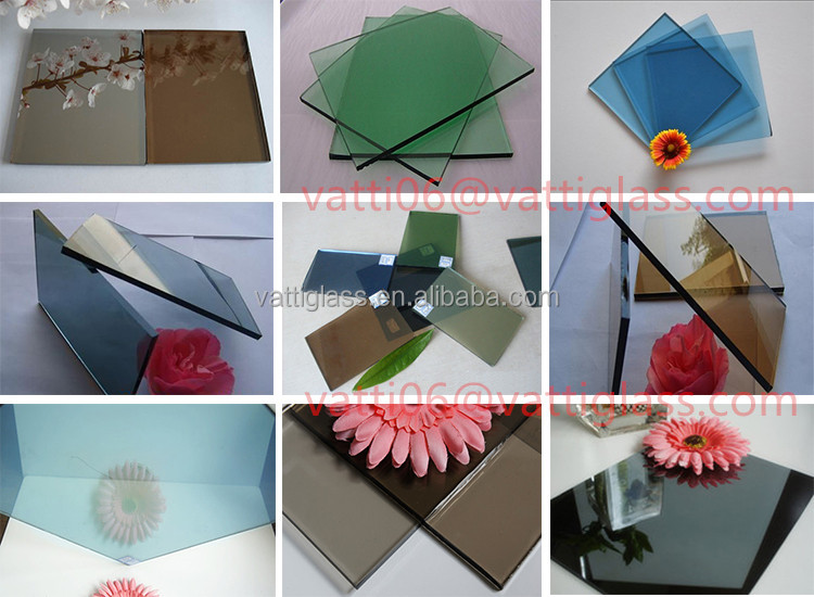 3mm 4mm 5mm 6mm dark blue green color tinted float glass manufacturer in the Philippines