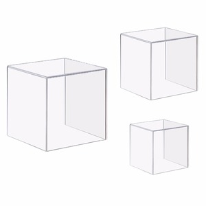 4 Sided Jewelry Book Showcase Museum Box Case Durable Clear Acrylic Cube