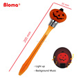 Halloween novelty funny pumpkin shape ball pen for kids gifts music and light available