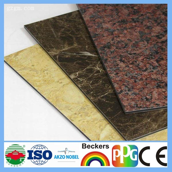 china products aluminum composite panel for construction building materials with stone texture