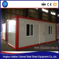 Construction Site Steelwork Moving Prefab House