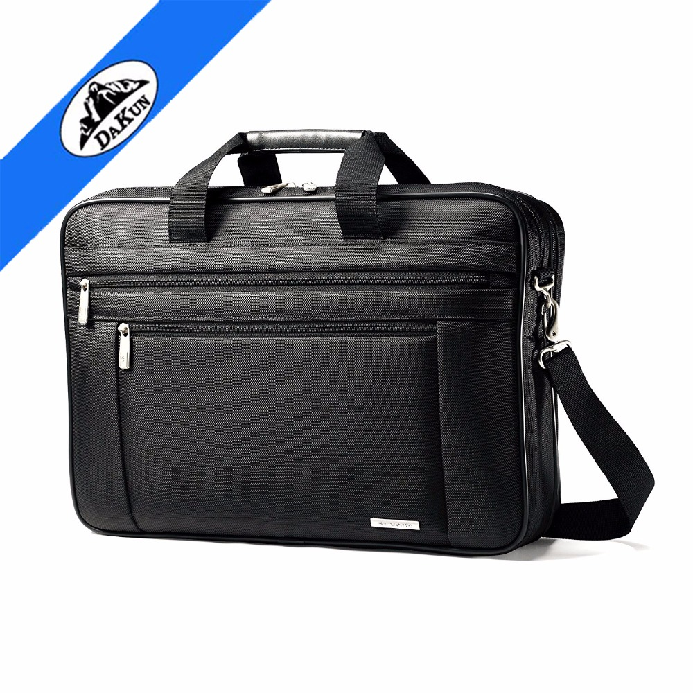 1680D ballistic fabric Classic Two Gusset business case laptop bag with laptop compartment removable adjustable shoulder strap