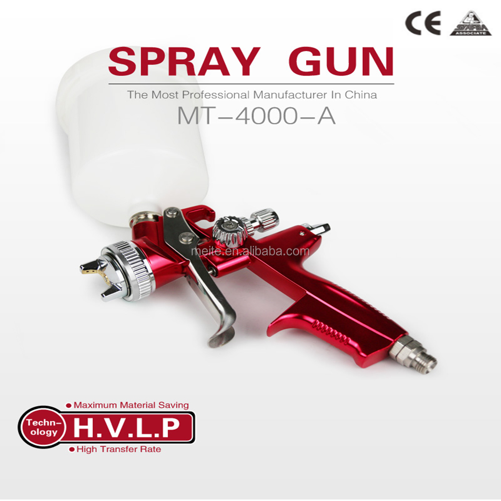 meite MT-4000-A aluminum forged body gravity HVLP spray gun with high efficiency