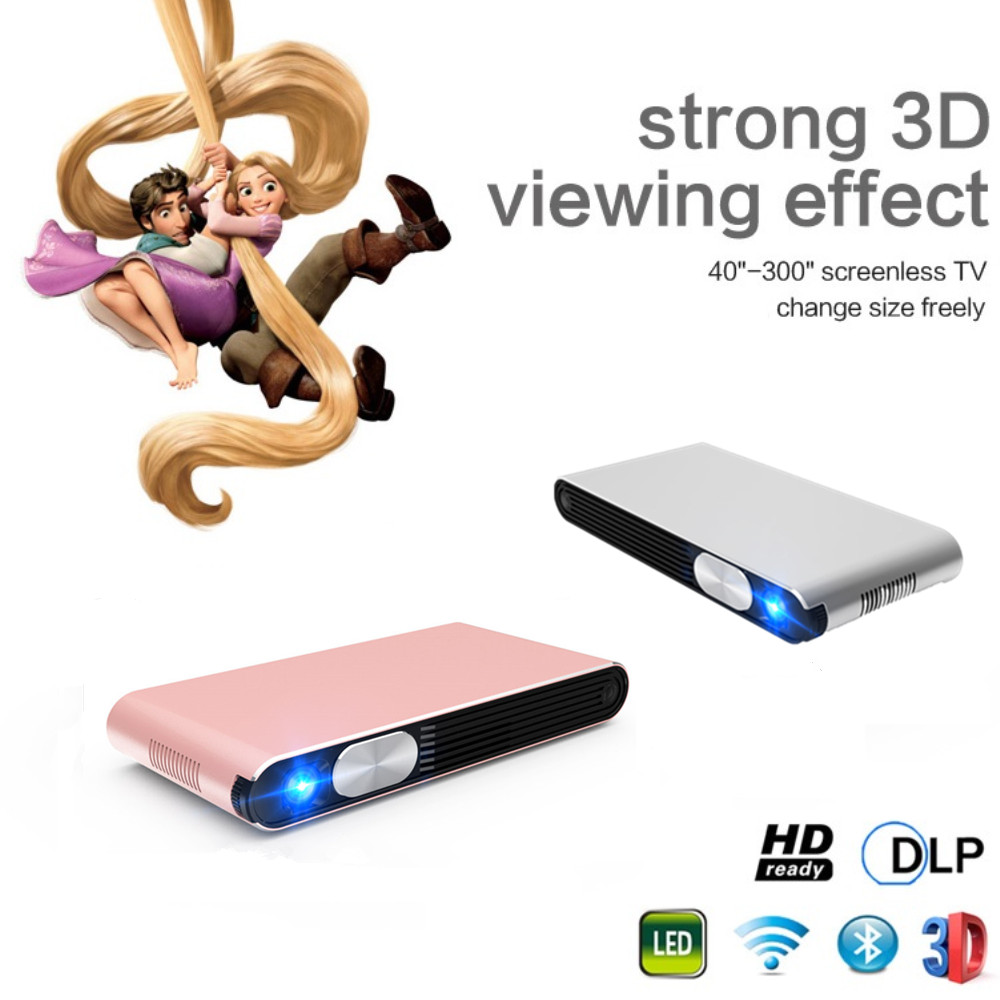 Hot selling latest Smart Android Projector 3D Wifi DLP Led Mini Projector
