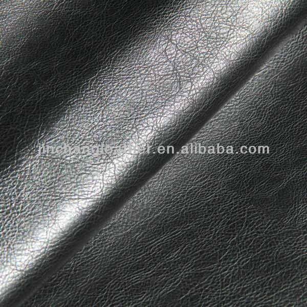 2014 Latest black soft pu synthetic leather for shoes and boots