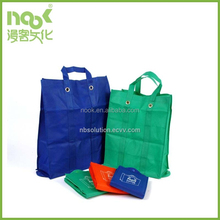 Hot wholesale cheap custom non woven shopping bag with carrying handle