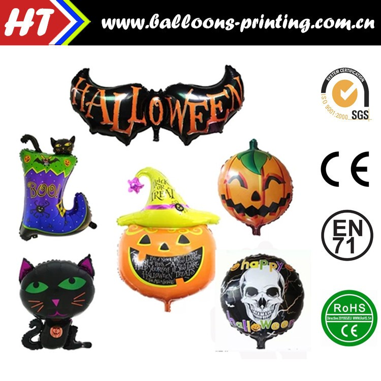 "18""Halloween Bat Balloon High Quality Foil Halloween Pumpkin Balloon"