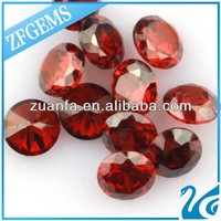 12 mm synthetic diamond garnet colored European machine cut stabilized zirconia